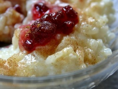 Dessert in a hurry….Baked Cranberry Orange Rice Pudding